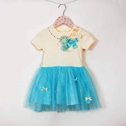 Aqua Sparkle Dress