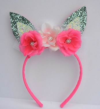 Bunny Ears Headband in Blue