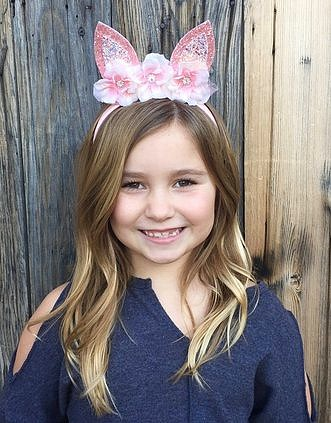 Bunny Ears Headband in Pink