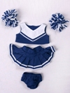 Blue and White Cheerleader