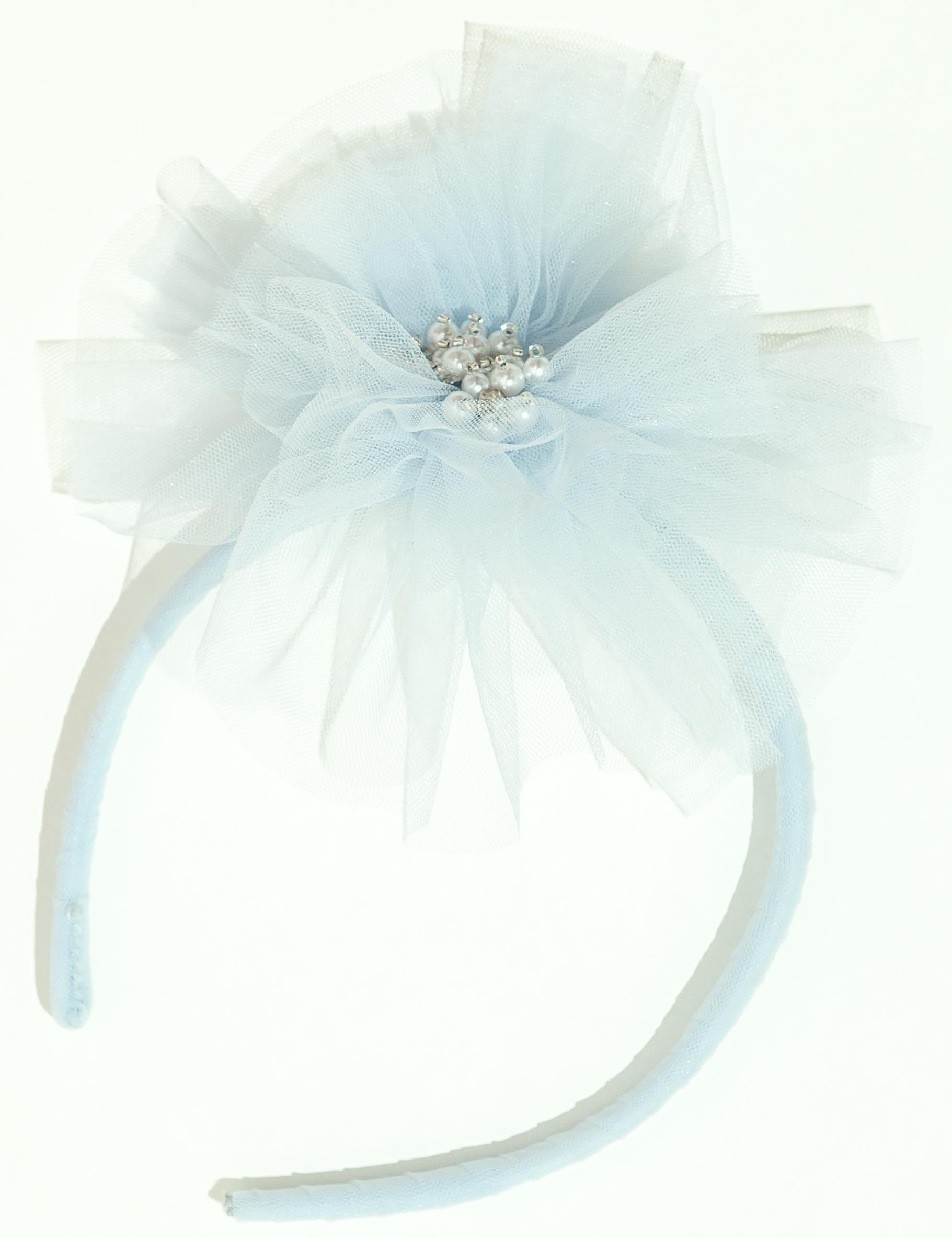 Fleur Peony Headband in Sky Blue