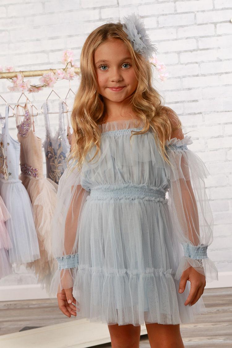 Avery Dress in Sky Blue