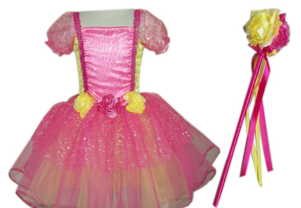 Princess Costume in Hot Pink and Yellow
