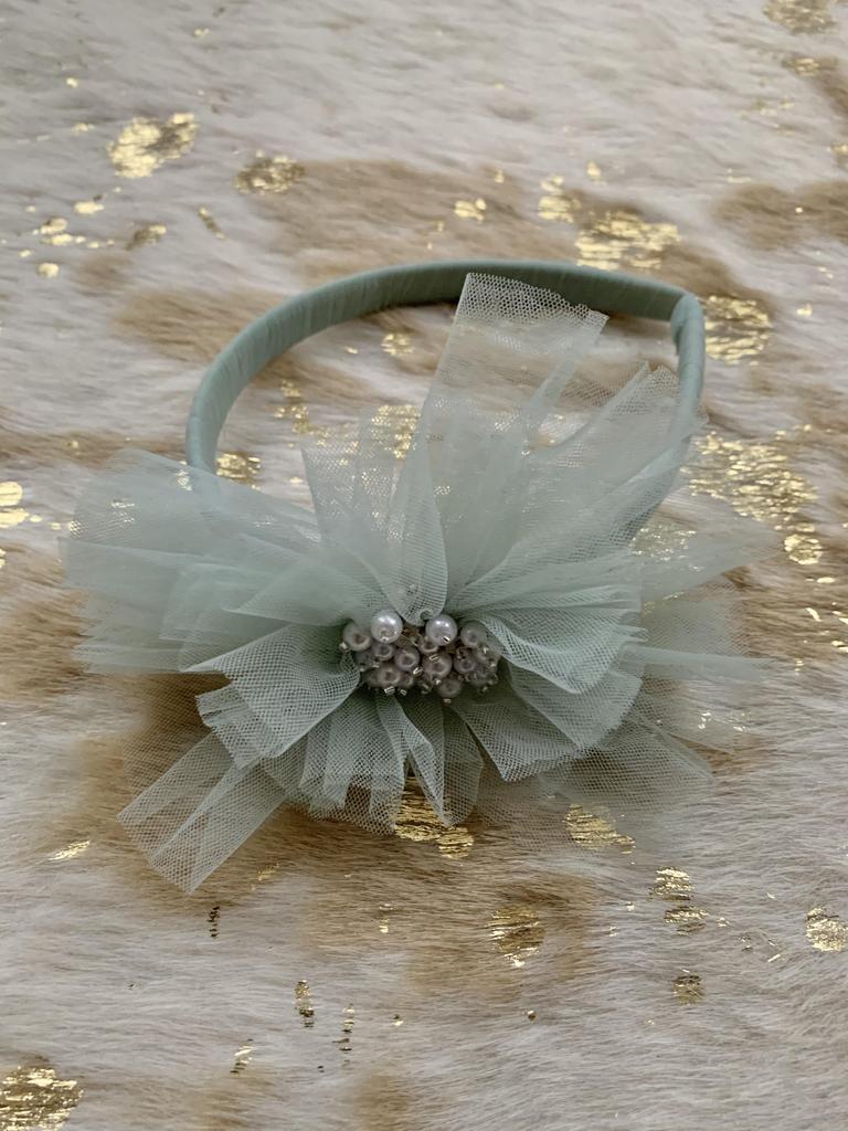 Embellished Sage Headband