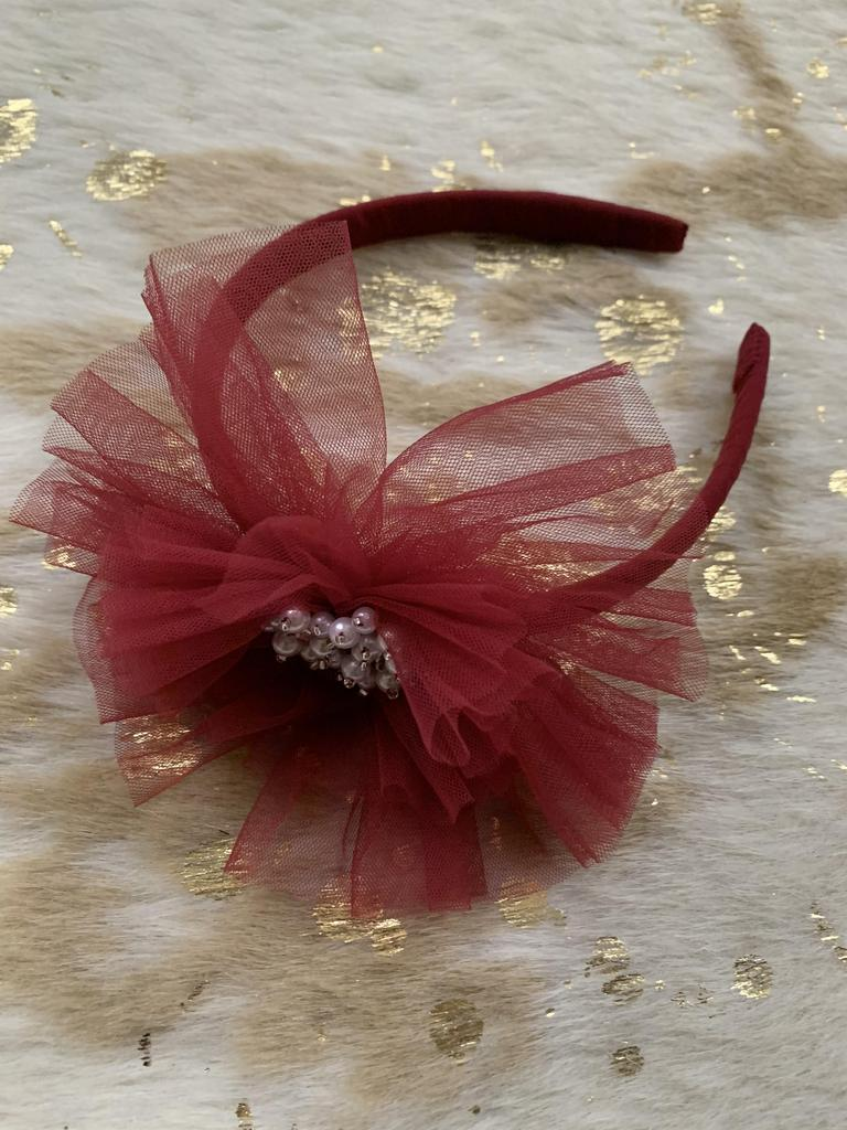 Embellished Scarlet Headband